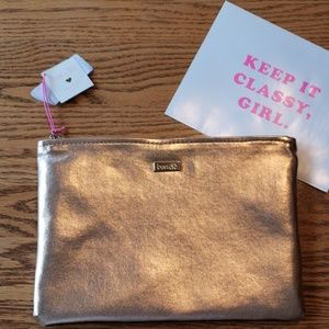 """NWT ban.do """"Keep It Classy"""" Clutch in Rose Gold"""